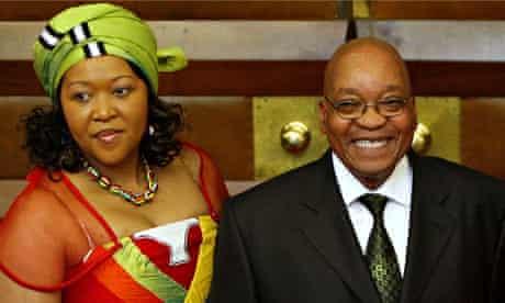 Jacob Zuma and Tobeka Madiba