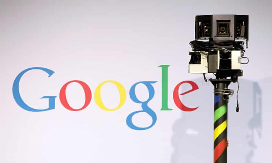 google logo and security camera