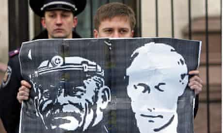 Putin and Stalin poster