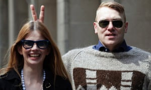Gnarr with Best party leader Heida Helgadottir in 2011. Photograph: Brendan McDermid/Reuters