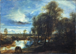 Constable, The Making of a Master. Landscape by Moonlight, Peter Paul Rubens