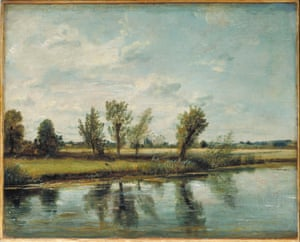 """Constable, The Making of a Master. """"Watermeadows near Salisbury"""", 1829-30."""