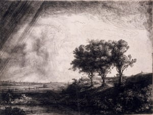 """Constable, The Making of a Master. """"The Three Trees"""" by Rembrandt, 1643."""