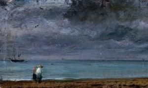 Brighton Beach, 1824, by John Constable