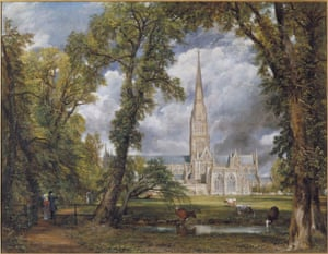 """Constable, The Making of a Master. """"Salisbury Cathedral from the Bishops Ground"""", c 1823."""