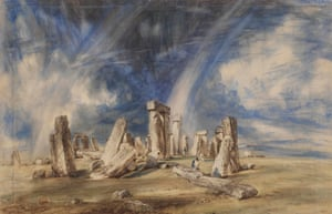 """Constable, The Making of a Master. """"Stonehenge"""" c.1835."""