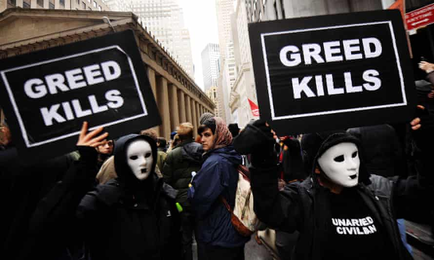US Money occupy wall street