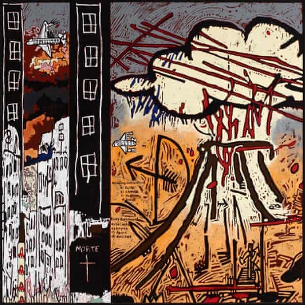 Gordon Bennett's Notes to Basquiat (Primal) (2002). Artbank