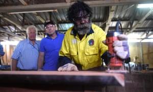 Tony Abbott watches Gumatj employees