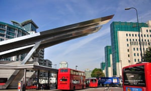 The solar-powered bus station at Vauxhall, in London. Sustainable development in cities would reduce capital expenditure, Stern's report found