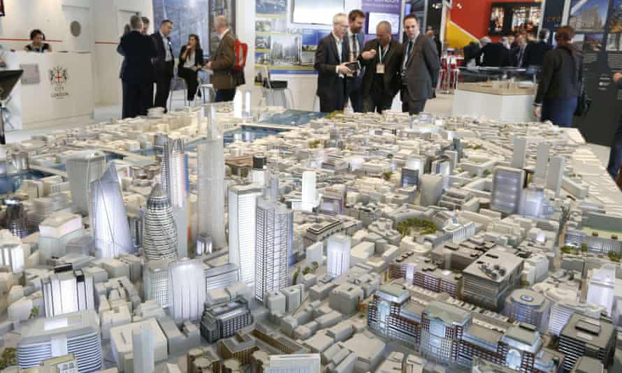 A scale model of London on show at this year's Mipim international real estate fair in Cannes, France.