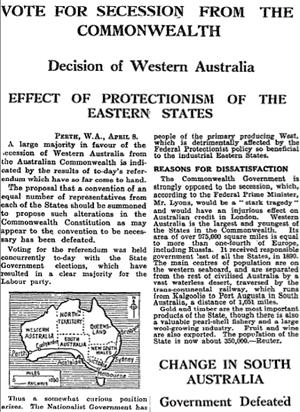 Guardian on Western Australia referendum