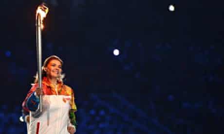 Kabayeva with torch