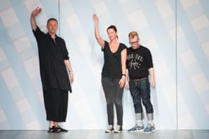 A trio of designers taking their bow at Sibling