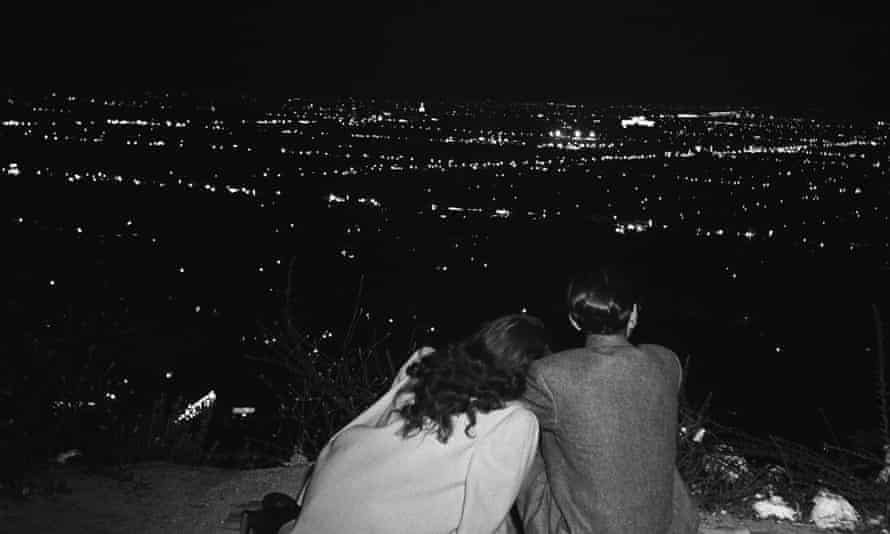 City lights … view of Hollywood, 1951.