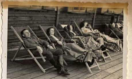SS members relax in Solahütte, a resort for Auschwitz-Birkenau death camp guards and administrators