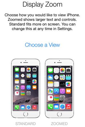 iPhone 6 Plus: zoom display enlarges icons