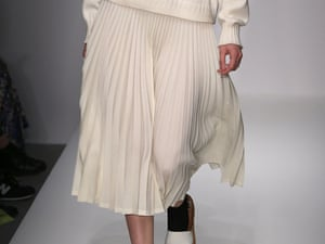 Margaret Howell showed pleated skirts