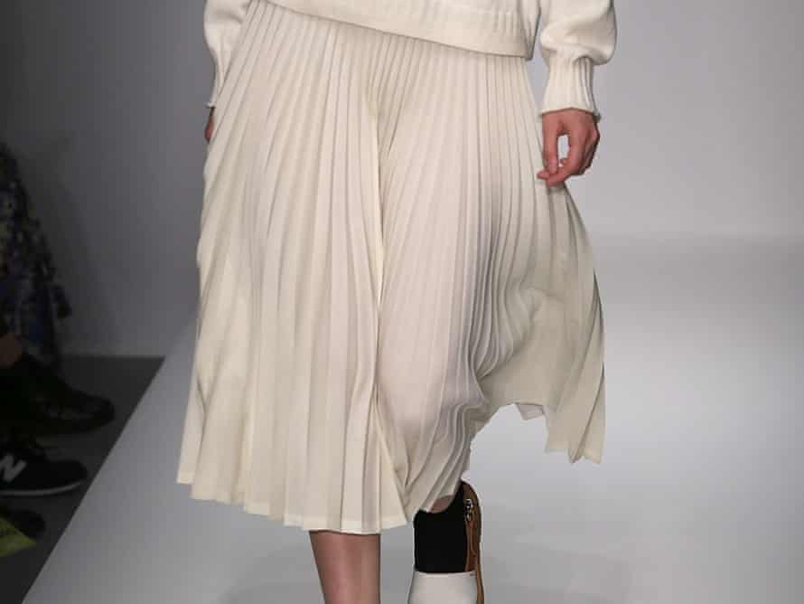Margaret Howell showed pleated skirts