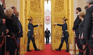 Vladimir Putin at his inauguration in 2012