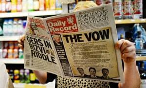 Scottish independence referendum Daily Record