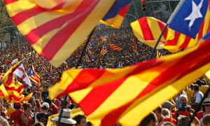 Catalan separatists protest in Barcelona for the right to an independence referendum