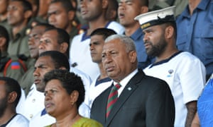 Fiji's military ruler, Voreqe Bainimarama, is predicted to be the biggest winner in the first elections for eight years.