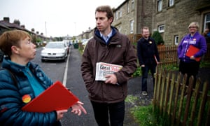 Will Straw campaigning for the forthcoming local council elections in Rossendale and Darwen
