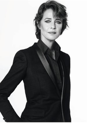 Charlotte Rampling models for the Nars audacious lipstick campaign