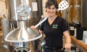 Sara Barton, of Brewsters Brewery, taking a look at the latest in homebrew technology.