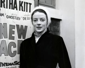 Actress Maggie Smith Pictured In 1956 with the New Faces poster