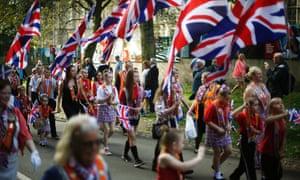 The marchers process through Edinburgh.