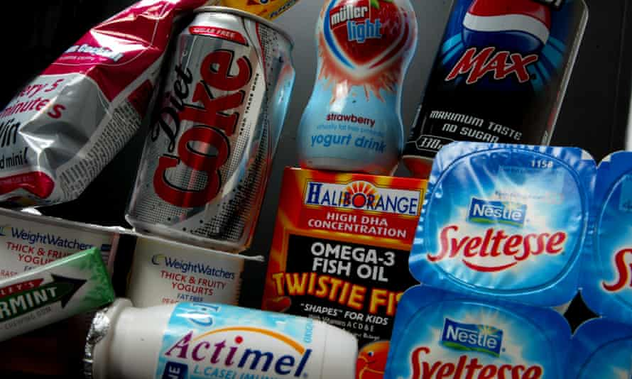Food and drink containing artificial sweeteners