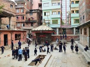Bhakta Vidyashram school. Kathmandu, Nepal, photographed 5December 2011