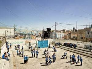Aida boys' school. Aida refugee camp, Bethlehem, photographed 8September 2013