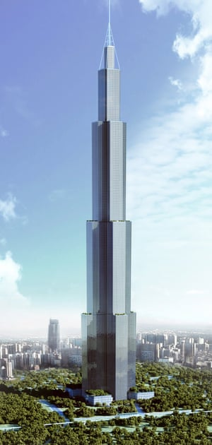 "An artist's impression of the 838-tall steel-and-concrete ""Sky City"","