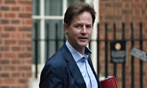 Britain's deptuty prime minister, Nick Clegg