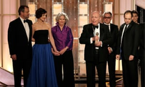 The team behind Downton Abbey at the 2012 Golden Globe awards.