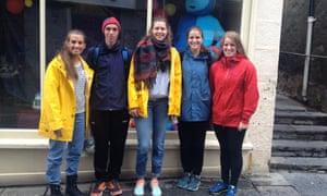 Norwegian teenagers in Shetland