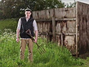 Wild in the country: a scene from C4's new drama series, Glue.