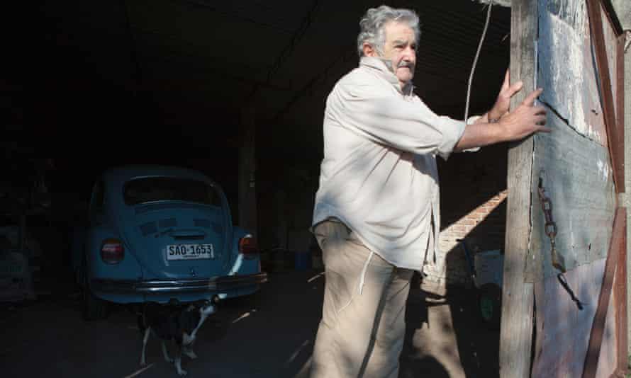 Uruguay president José Mujica and his VW Beetle