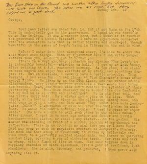 Jack Kerouac letter