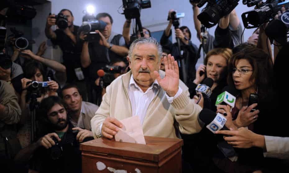 José Mujica casts his vote during the Uruguay's presidential election in 2009.