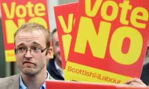 Supporters campaign for the 'no' vote.