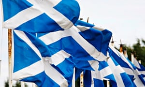 The Scottish flag or the saltire.