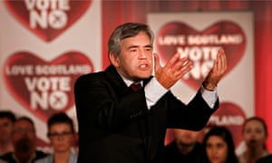 Gordon Brown addresses a no campaign rally in Glasgow