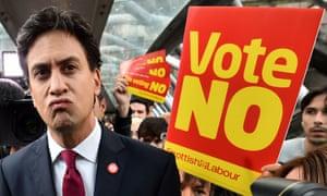 Ed Miliband in Edinburgh on Tuesday.