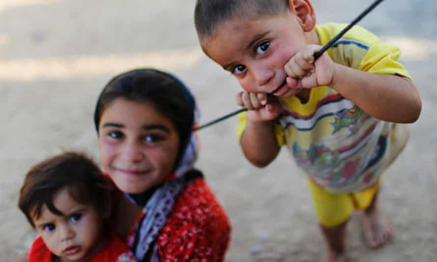 Displaced Iraqi children, who fled from Islamic Sate violence in Mosul.
