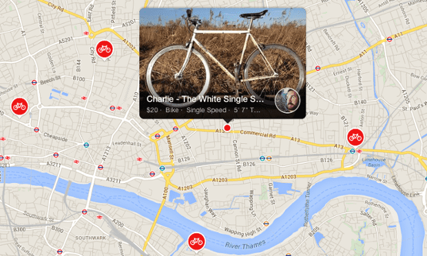 A bike available to rent in London on Spinster