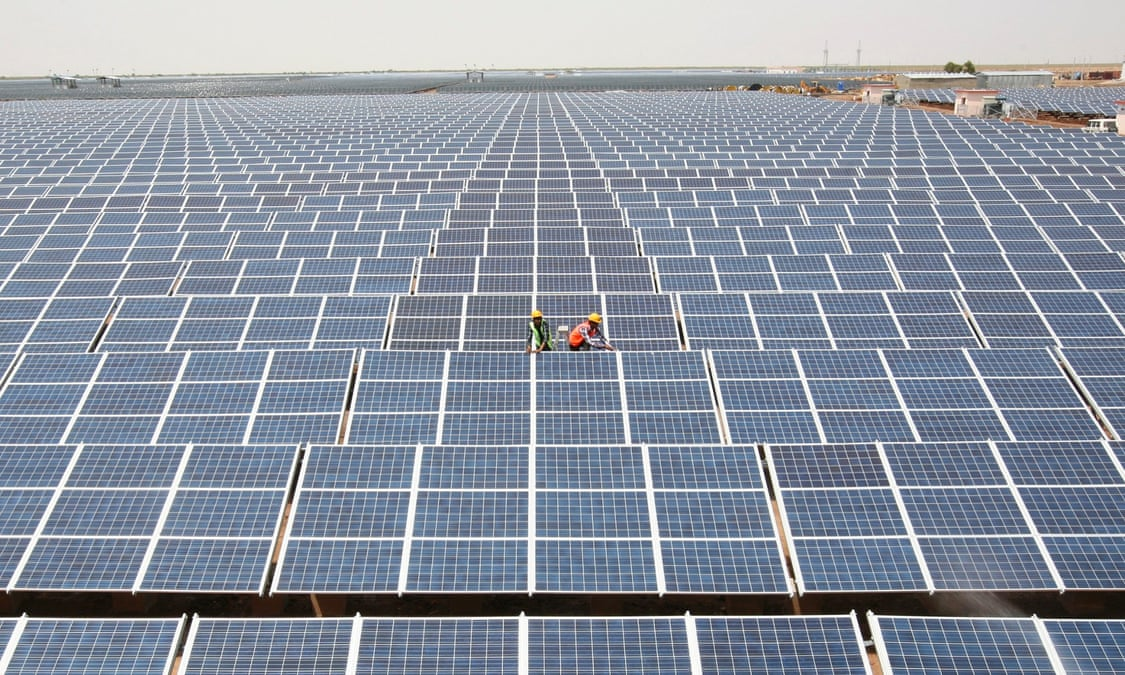 Compare and contrast solar power with coal powered energy